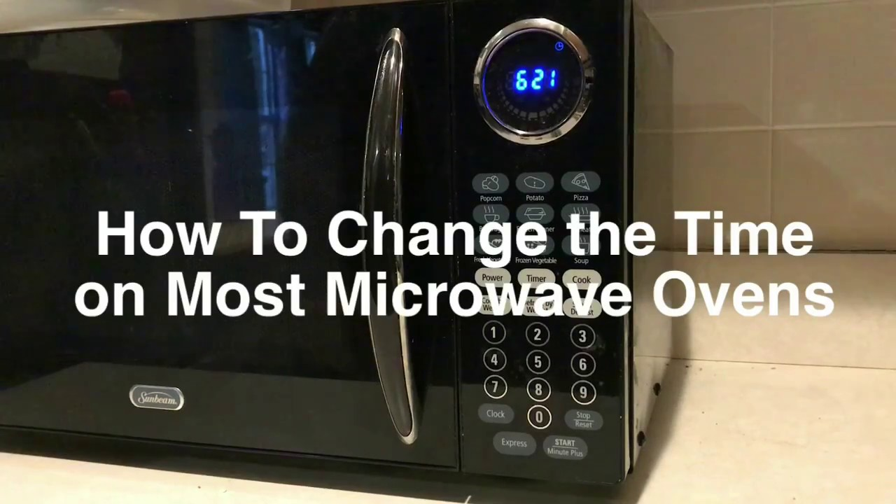 how to set the clock and change the time on most generic or unbranded microwave ovens