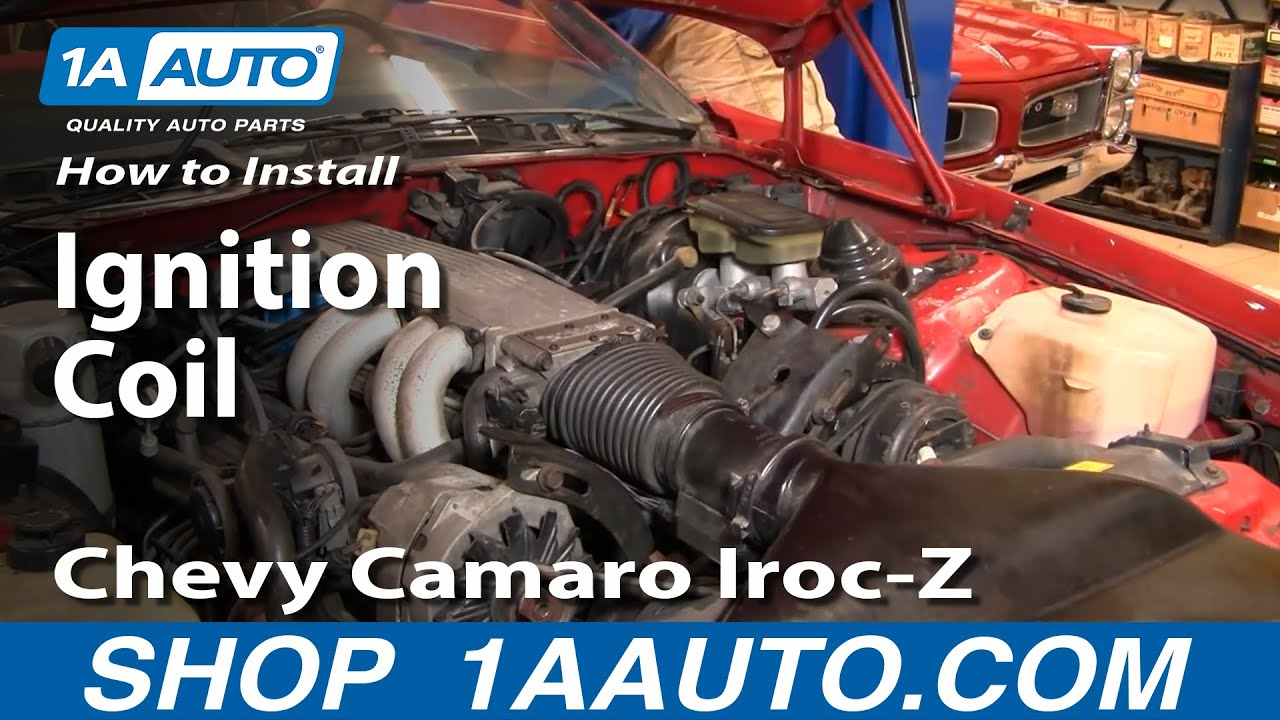 how to install replace ignition coil 82 92 chevy camaro iroc z pontiac trans am part 2 1aauto com [ 1280 x 720 Pixel ]
