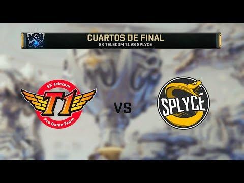 SK TELECOM VS SPLYCE   WORLDS 2019   CUARTOS DE FINAL - MAPA 4   League Of Legends