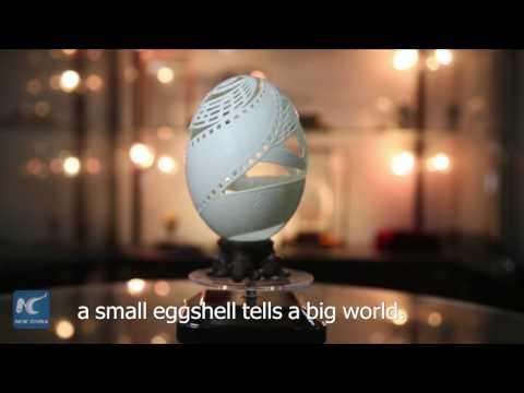 A world in an eggshell! Chinese artist creates eggshell sculptures