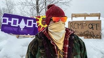 Kahnawake rail blockade in support of Wet'suwet'en pipeline protest