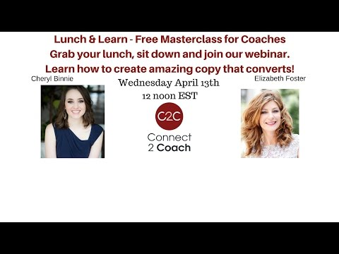 Connect 2 Coach & Cheryl Binnie - MasterClass on Message Mastery