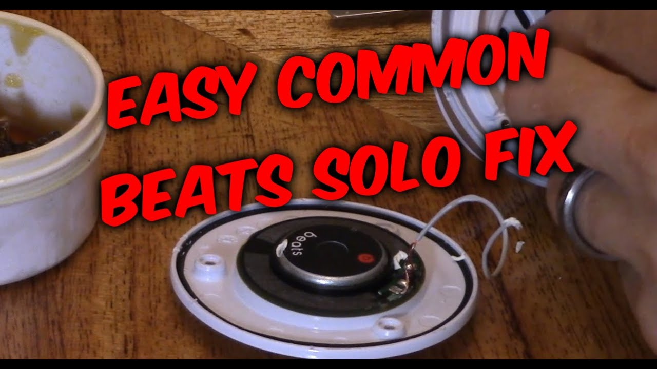 How To Fix Beats Solo Headphones Speaker No Audio Sound Not Working Headphone Plug Wiring Diagram On With Volume Control Youtube