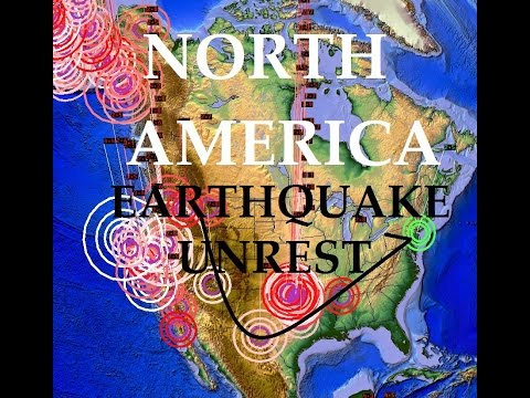 8/14/2015 -- US Earthquake Update -- West Coast VOLCANOES + Midwest Fracking Unrest
