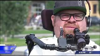 Man inspires change on cross-state wheelchair ride