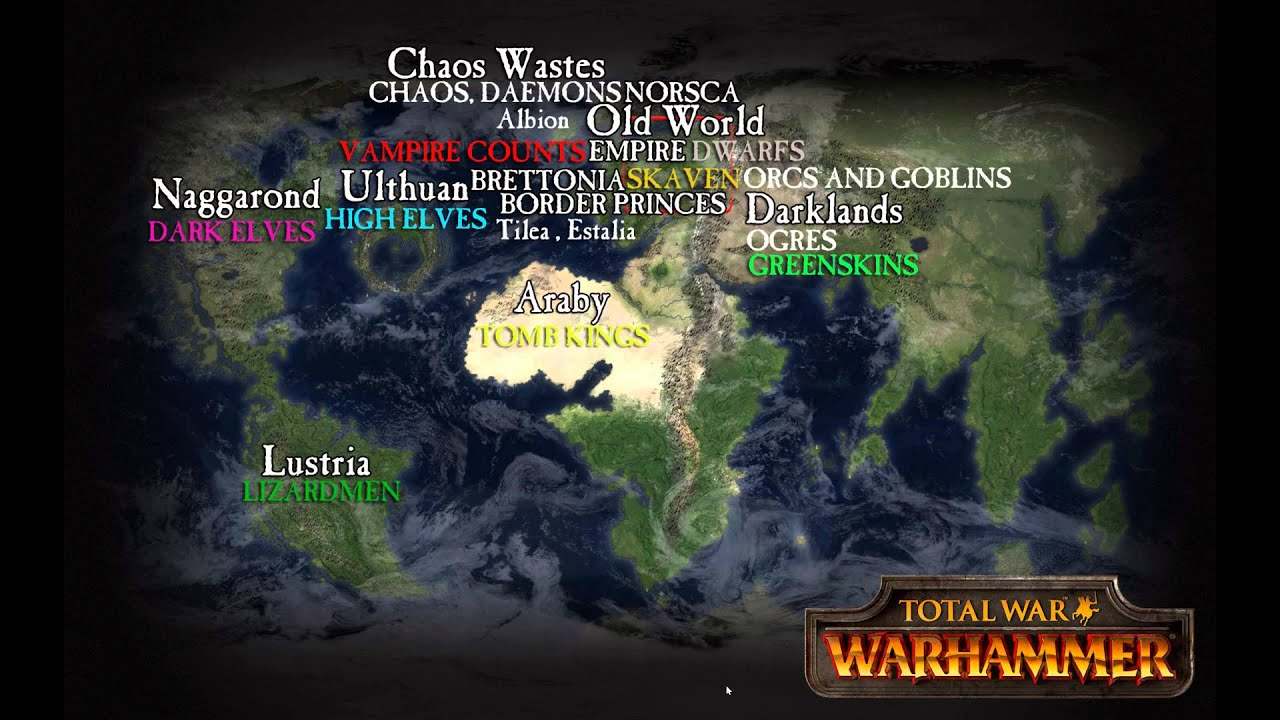 The old world of warhammer and beyond geography expansion the old world of warhammer and beyond geography expansion races and factions youtube gumiabroncs Choice Image