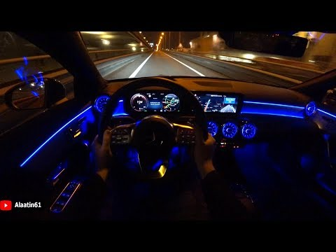 2020 Mercedes CLA - REVIEW CLA 220 AMG POV TEST DRIVE At NIGHT
