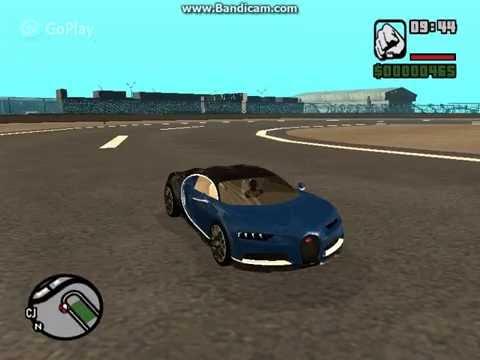 Gta San Andreas Bugatti Chiron Mod Youtube