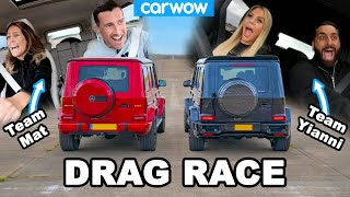 AMG G63 Drag Race: my GIRLFRIEND vs Yianni's