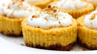 How To Make Mini Pumpkin Cheesecakes