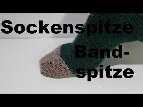 Socken Spitze stricken - Bandspitze