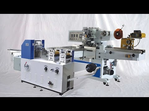handkerchief tissue making packing sanitary products processing machine à emballer les mouchoirs