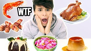 i tried CHRISTMAS dinners from all over the WORLD !!!