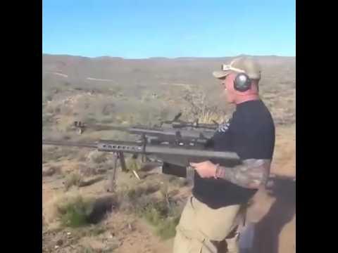 Crazy 50. Cal Sniper rifle shooting