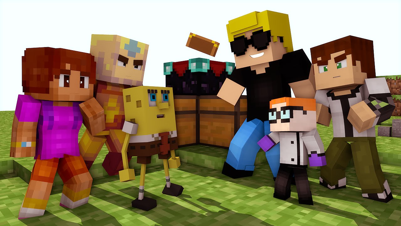 Minecraft:Cartoon Network vs Nickelodeon - Batalhas SkyWars