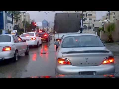 الحالة الجويه بعمان 7-1-2013  Amman Jordan Weather