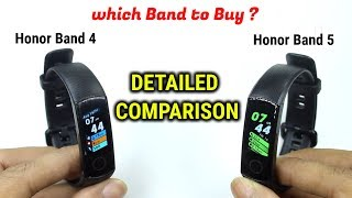Honor Band 4 vs Honor Band 5 | DETAILED COMPARISON | INDIAN UNITS