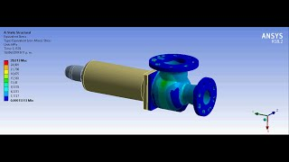 ANSYS Workbench Tutorial Video | Pressure Relief Valve | Linear Analysis