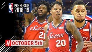 Ben Simmons, Joel Embiid & Markelle Fultz Full Highlights vs Mavericks 2018.10.05 - TOO SICK!