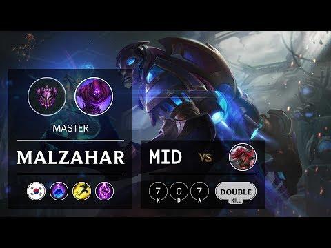 Malzahar Mid vs Katarina - KR Master Patch 9.21