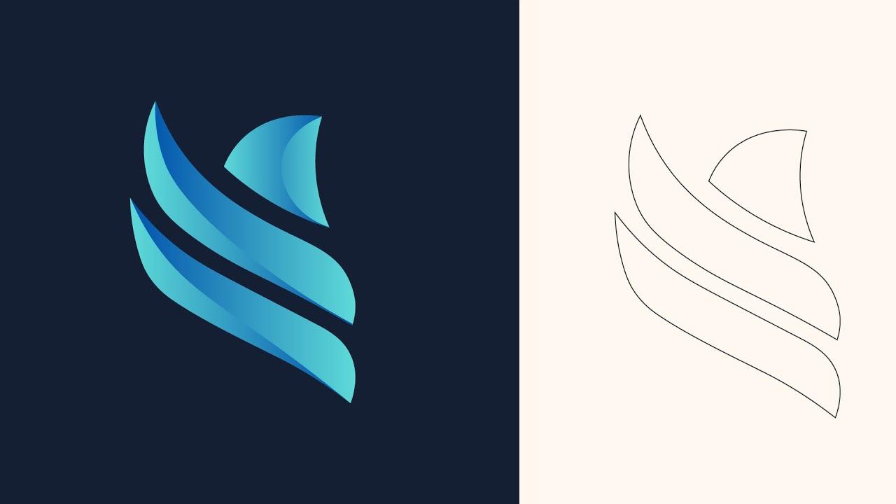 طريقة تصميم شعار لوجو من البداية الرسم بالقلم إلى النهاية وعرض الشعار