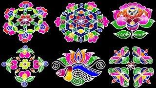 New Year 2020 Rangoli Designs | Beautiful New year Kolam Designs | Latest Muggulu | New Designs