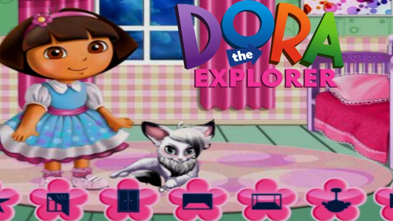 Dora At Fancy 39 S Decor Salon Dora The Explorer Decoration Game For Children Youtube