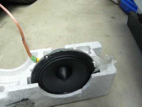 hertz hi-energy speaker blowing up