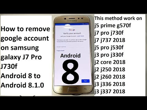 how to remove google account on samsung galaxy j7 pro j730f android