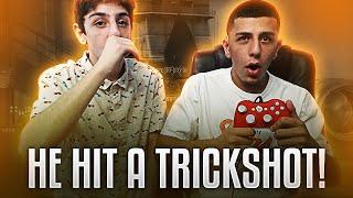 TEACHING MY BROTHER HOW TO TRICKSHOT!! | FaZe Rug