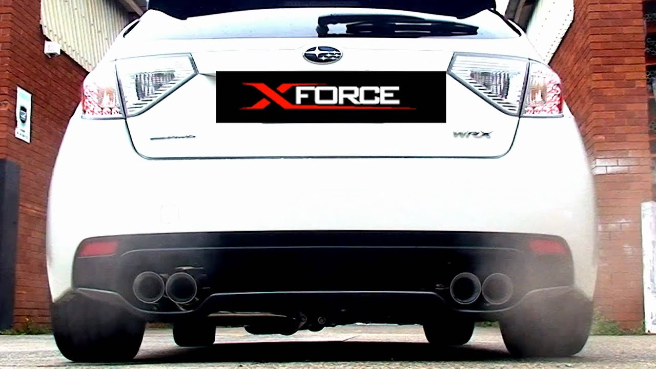 xforce subaru wrx sti hatch back my11 performance exhaust