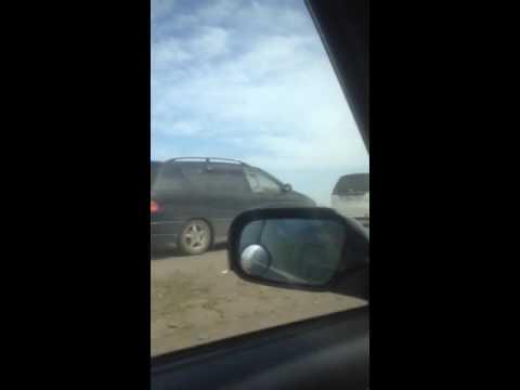 Видео ДТП с Porsche Cayenne газель сгорела за несколько минут