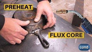 Cast Iron Welding Repair using Flux Core Wire