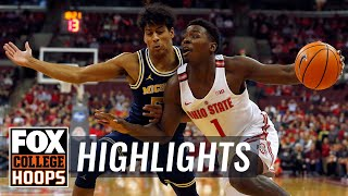 Ohio State vs Michigan | Highlights | FOX COLLEGE HOOPS