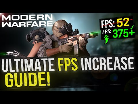 🔧 MODERN WARFARE: Dramatically Increase FPS / Performance With Any Setup! In Call Of Duty MW