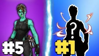10 SKINS in FORTNITE using only PROS - 10 TRYHARD SKINS in SEASON 8