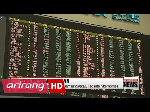 Korean stocks close lower on Samsung recall, Fed rate hike worries