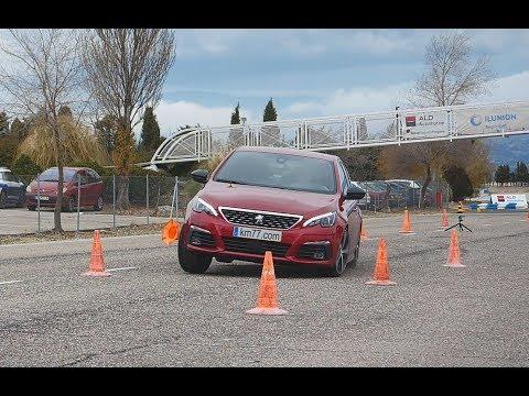 Peugeot 308 2017 - Maniobra de esquiva (moose test) y eslalon   km77.com