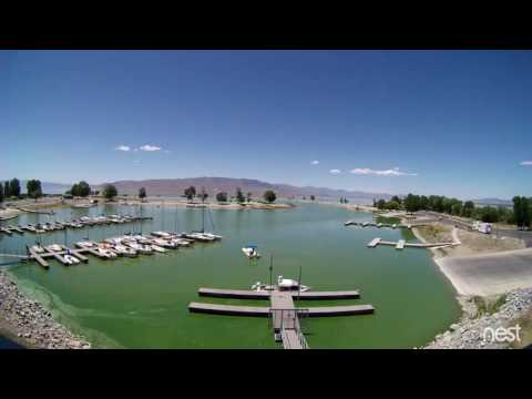Time-lapse video of algae growth in Utah Lake