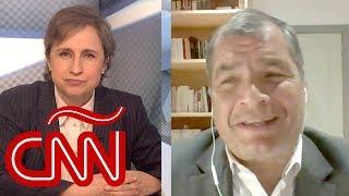 Rafael Correa en Aristegui: No existe Gobierno en Ecuador, está en estado vegetativo