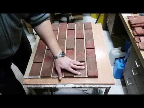 MakeStone  Как сделать стенд декоративный камень Кирпич Клинкерный
