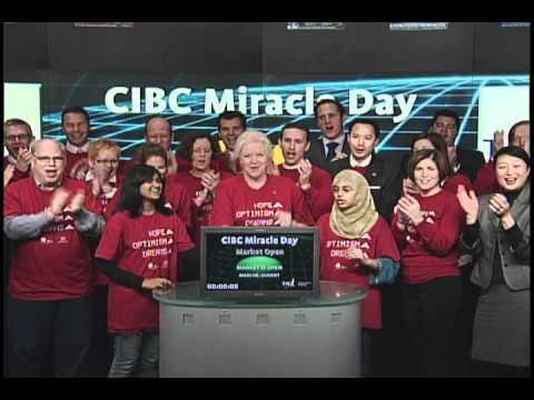 CIBC Miracle Day opens Toronto Stock Exchange, Dec 1, 2010.