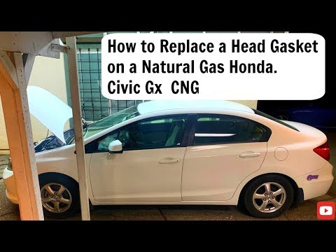 How to replace a Head Gasket on a Natural Gas Honda , Civic GX CNG Ken Rentschler