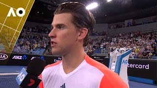 Dominic Thiem on court interview (2R) | Australian Open 2017