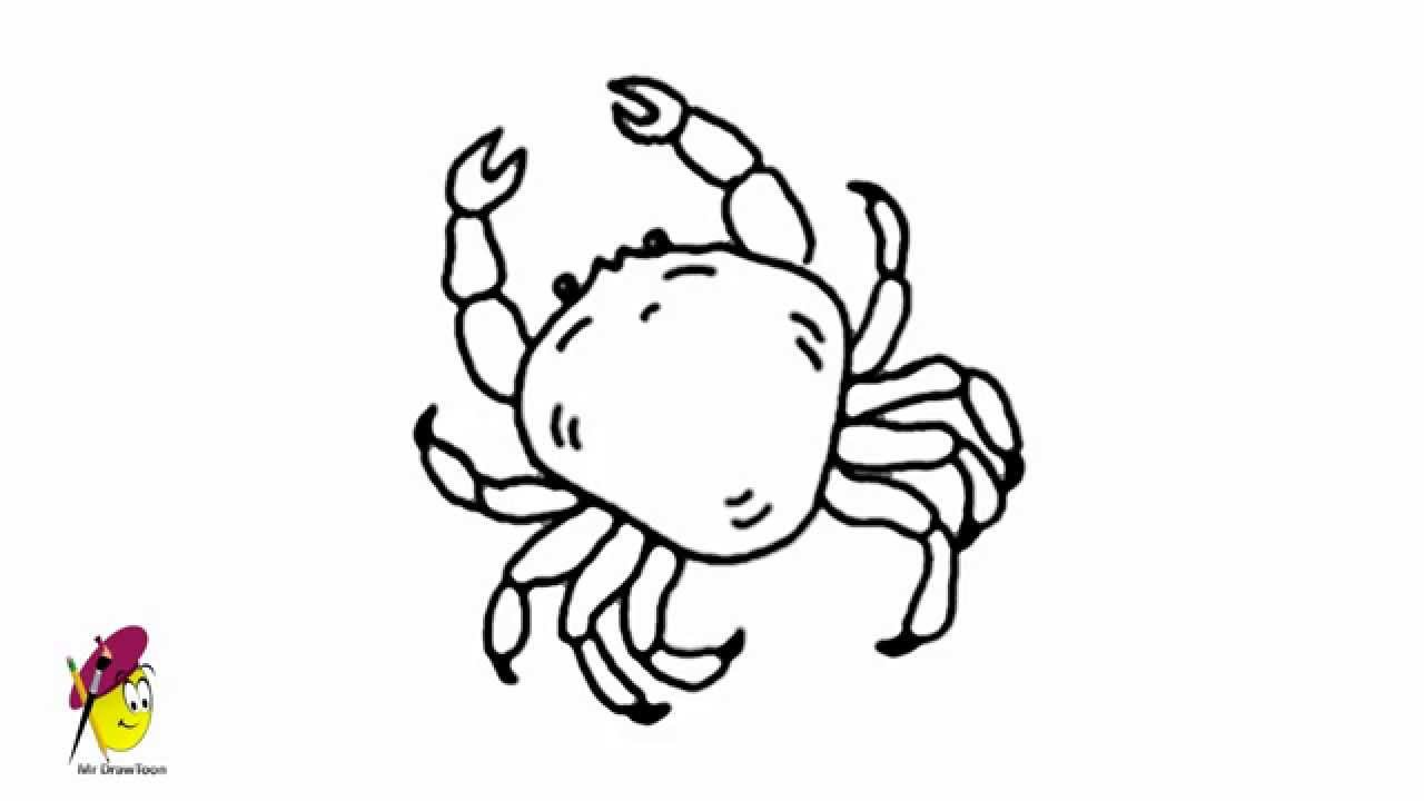 King Crab - Easy Drawing - how to draw a Crab - YouTube  King Crab - Eas...