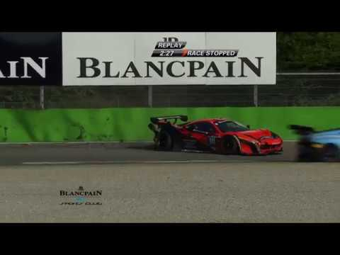 Blancpain GT Sports Club 2018. QR Autodromo Nazionale Monza. Crashes Red Flag