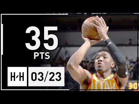 Donovan Mitchell Full Highlights Jazz vs Spurs (2018.03.23) - 35 Pts!