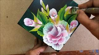 Floral Work On Wooden Box