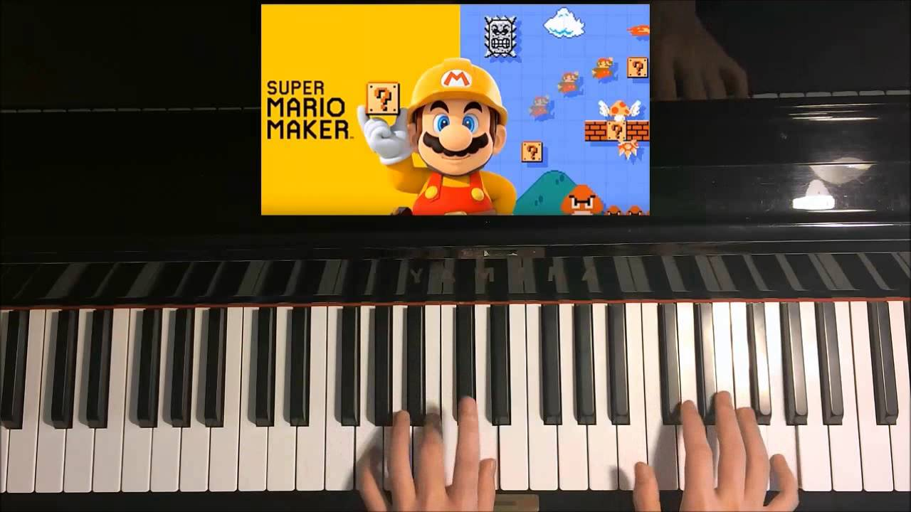 How To Play - Super Mario Maker - Title Screen Theme Song (Piano Tutorial)
