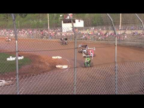 Clyde Martin Memorial Speedway 125cc Heat Race 4-29-17